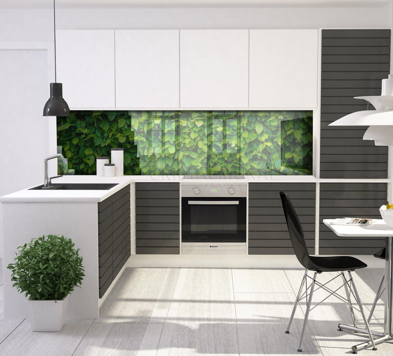Cocinas con frente de cristal latest top frentes de - Frente cocina cristal ...